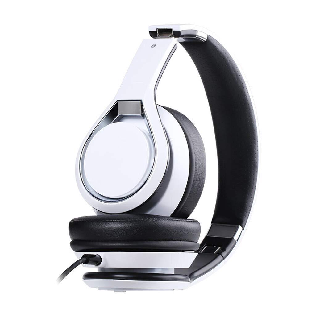 FLy Auricolari Speciali Intrattenimento Audio E Video Cuffie da Gioco Mobili Vibranti Spina Singola con Telecomando Bianco Cuffia