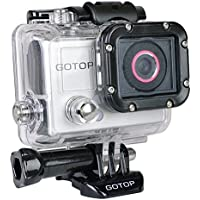 Gotop 1080P Sports Action Waterproof Mountable Camera with 1.5 LCD & mini-HDMI