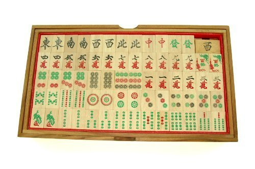 Handmade Wooden Chinese Mahjong Games Set, Wooden puzzles For Adults, By RATREE SHOP