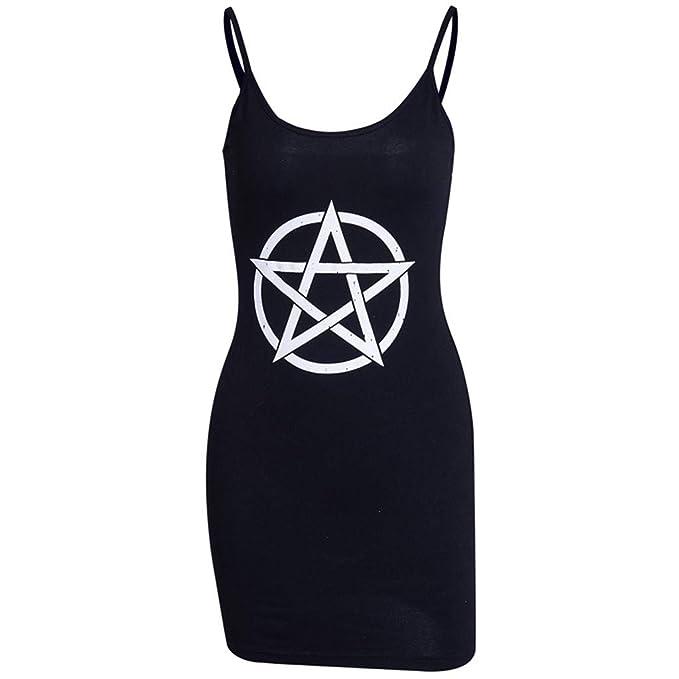Amazon.com: Vestido gótico punk para mujer, sexy, con ...
