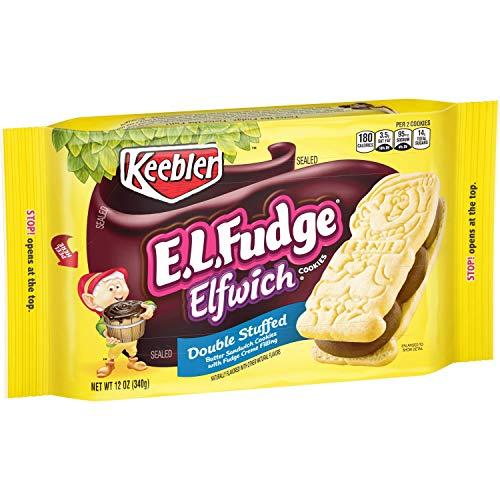 Keebler E.L. Fudge Double Stuffed Sandwich Cookies 12 oz (Pack of 2)