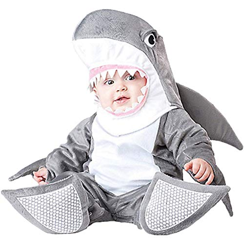 Haole Zaily Infant Halloween Costumes Toddler Boys/Girls Unisex Baby Romper Outfits (9-12 Months, Shark) -