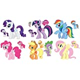 My Little Pony Friendship Is Magic Set of 7 Removable Wall Stickers with Free Mini Set of Young Ponies