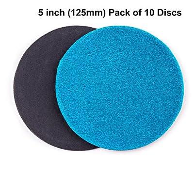 5 inch (125mm) GP50 Abrasive Disc for Glass Scratch Repair, FINE GRADE (pack of 10 discs)