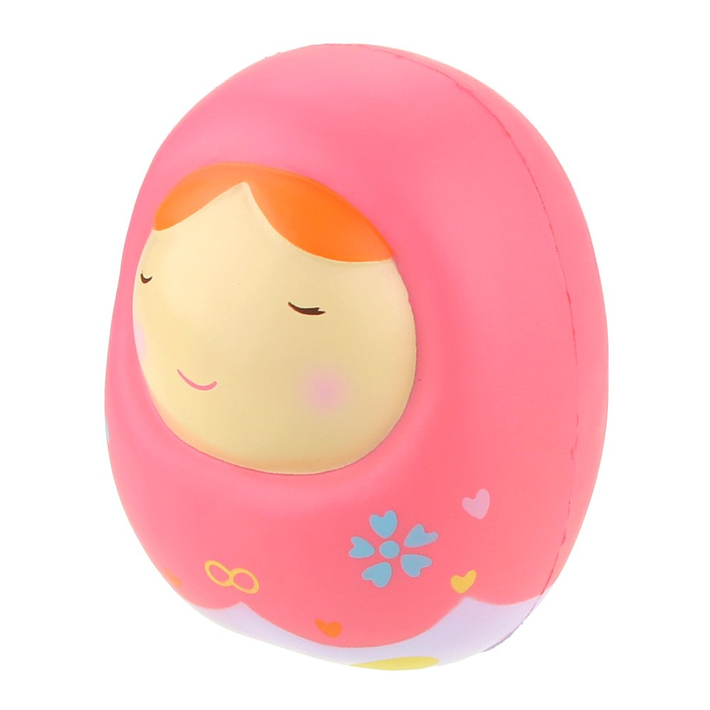Vlampo Clearance Squishy Russian Doll Toys Slow Rising Scented Jumbo Squeeze Toys Stress Relief Soft Decoration Doll Toys 6.3\