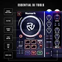 Numark Party Mix | Beginners DJ Controller for Serato DJ Intro With 2  Channels, Built In Audio Interface With Headphone Output, Pad Performance