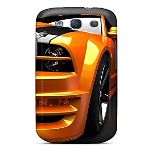 Slim Fit Tpu Protector Shock Absorbent Bumper Orange Mustang Case For Galaxy S3 by supermalls