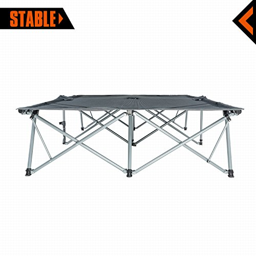 KingCamp Camping Cot Double 2 Person Oversized Anodized Steel Frame Portable Folding Bed Portable with Wheeled Carry Bag by KingCamp (Image #4)