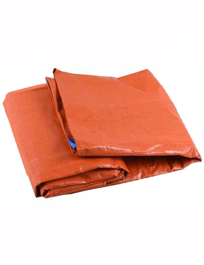 PIPIXIA Tarp Outdoor Sonnencreme Abdeckung Plane mit Wasserdicht Einfach zu Falten und Nicht Leicht zu tränen für LKW-Zelte Korn Camping Multi-Größe Optional 12 Mil Blau Orange