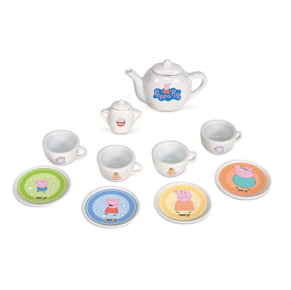 Tea Set Blue White Peppa Pig Porcelain Tea Time with Peppa Ages 3