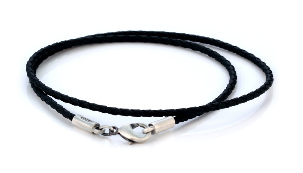 Bico 2mm (0.08 inch) Black Braided Necklace 20 inch Long (CL12 Black 20in) Tribal Street Jewelry by Bico (Image #1)