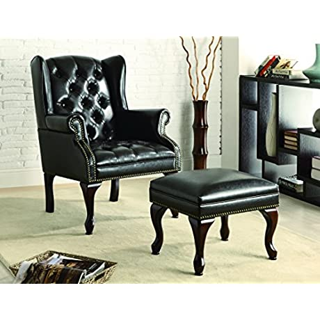 Coaster Home Furnishings Traditional Accent Chair Cherry Black