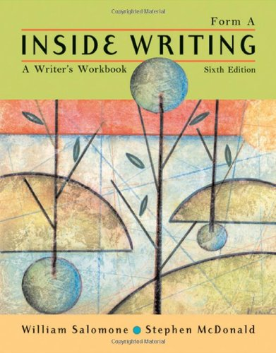 Inside Writing: A Writer's Workbook, Form A