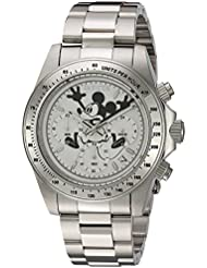 Invicta Mens Disney Limited Edition Quartz Stainless Steel Casual Watch, Color:Silver-Toned (Model: 22863)