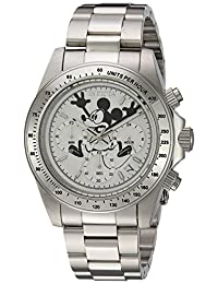 Invicta Men's 'Disney Limited Edition' Quartz Stainless Steel Casual Watch, Silver-Toned (Model: 22863)