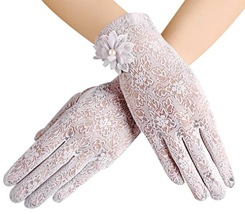 Summer Women's Sun Uv Protection Gloves Touch Screen Driving Gloves, Purple (Stretch Driving Gloves)