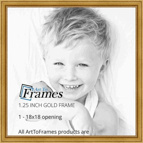 ArtToFrames 7x19 inch Gold Foil with Steps Wood Picture Frame 2WOMB-847-2186-7x19