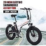 Alta-velocita-Veloce-Biciclette-elettriche-for-adulti-bicicletta-elettrica-elettrica-da-20-pollici-Ebike-48V500W-Mountain-bici-elettrica-pieghevole-bici-40-Fat-Tire-Beach-Ebike-Color-White