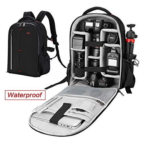 ESDDI Camera Backpack Bag Professional for DSLR/SLR Mirrorless Camera Waterproof, Camera Case Compatible for Sony Canon Nikon Camera and Lens Tripod Accessories