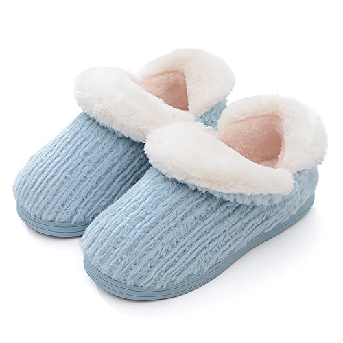 Flache Männer Hausschuhe Plüsch Schuhe Winter Weiche Blau Hausschuhe Paare Slip Warme Frauen Rutschfeste On Eagsouni Indoor Unisex ZwYOI6x