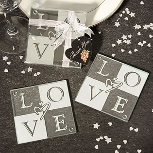 LOVE Coaster Wedding Favors Set