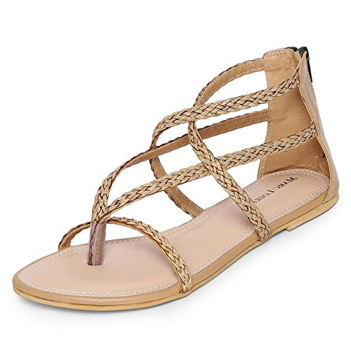 742db13699b44 MarcLoire Women Ballet Flats Sandals, Girls Fashion Flat Sandals, Open Toe  Sandals with Back