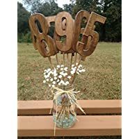 Wooden Table Numbers - Rustic Wedding Decor - Wedding Centerpiece - Wedding Table Decor - Wedding Table Signs