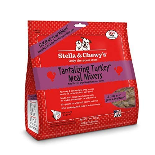Picture of Stella & Chewy's Freeze-dried Raw Tantalizing Turkey Meal Mixers Dog Food Topper, 18 oz bag