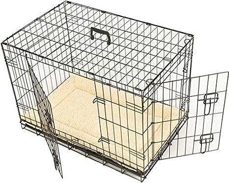 MAXX Jaula para Perro con 2 Puertas, Plegable y transportable con ...