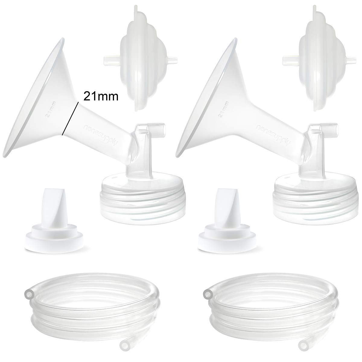 Nenesupply Compatible Pump Parts for Spectra S2 Spectra S1 Spectra 9 Plus Breastpump Flange Valve Tubing Backflow Protector Not Original Spectra S2 Accessories Not Original Spectra Pump Parts