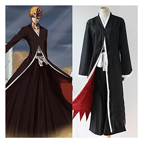 Smoon Cosplay Bleach Kurosaki Ichigo Black Suit Costume(S)