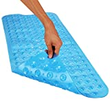 Wimaha Non-Slip Bathtub Mats Extra Long Mat for Tub Machine Washable Shower Mat for Bathroom Mildew Resistant Anti-Bacterial, 39Lx16W Bath Mat