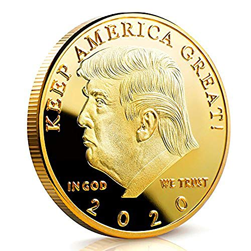 Great Eagle American (Egina Limited Edition Donald Trump Keep America Great 2020 Coin - American Eagle Commemorative Coin 41mm Stunning Proof Coin in Acrylic Capsule. (Gold Plated))