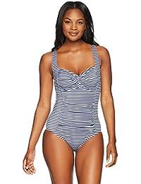 d018fa67cbe91 Women s Swimwear Classic Center Front-Twist One Piece Swimsuit. Coastal Blue