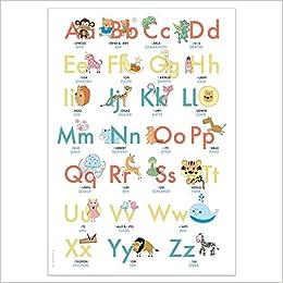Abc Poster 70 7x100 Cm Alphabet Spielerisch Mit Tieren Lernen