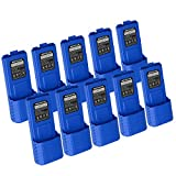 NKTECH BL-5L 7.4V 3800mAh Extended Li-ion Battery For Baofeng Pofung UV-5R V2 UV-5RTP UV-5RE Plus BF-F8+ F8HP F9 TYT TH-F8 Two Way Radio Walkie Talkie Blue Warranty Pack of 13