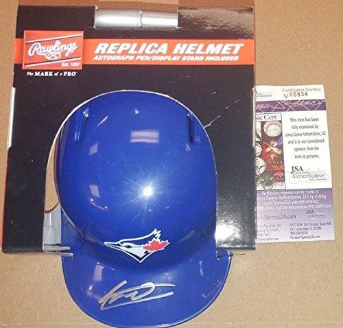 (Blue Jays Vladimir Guerrero, Jr. Autographed Rawlings Mini-Helmet - JSA Authenticated)