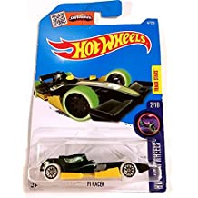 Hot Wheels 2016 F1 Racer HW Glow Wheels Green 47/250, Long Card by Mattel