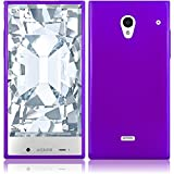 aquos sharp waterproof phone case - Sharp Aquos Crystal 306SH Case, Slim Fit Soft Rubber Candy Skin (TPU) Gel Jelly Cover by MEGATRONIC - Purple [With FREE Stylus Pen + Anti Scratch Clear LCD Screen Protector + Microfiber Cleaning Cloth]
