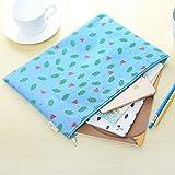 Katoot@ 4pcs/lot Creative Fruit A4 paper file folder bag Cute Wateremelon zipper document bag Office School Supplies Canetas escolar
