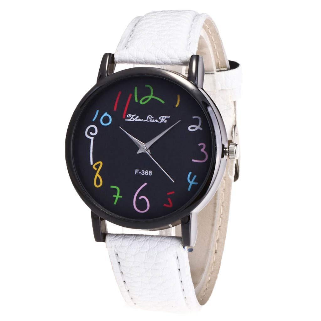Amazon.com: Ladies Watch WoCoo Fashion Analog Quartz Cartoon Pointer Dial Wrist Watch with Leather Strap Watches Gifts (Orange): Kitchen & Dining