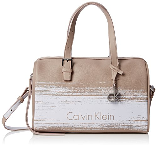 Calvin Klein Melissa Brushed Duffle, Borse Donna Beach/White
