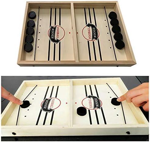 ZQEDY Fast Sling Puck Game - Juego de mesa para jugar a juegos de mesa con juego de mesa de hockey para adultos y niños, No nulo, marrón, Tamaño libre: Amazon.es: Hogar