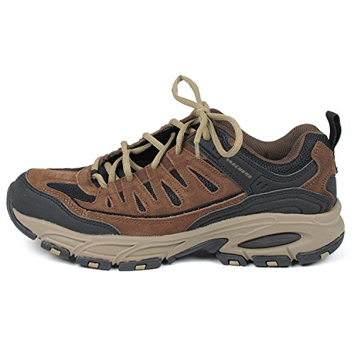 Skechers Para Hombre Freefall Upturn Memory Foam Sneaker Shoe Brown