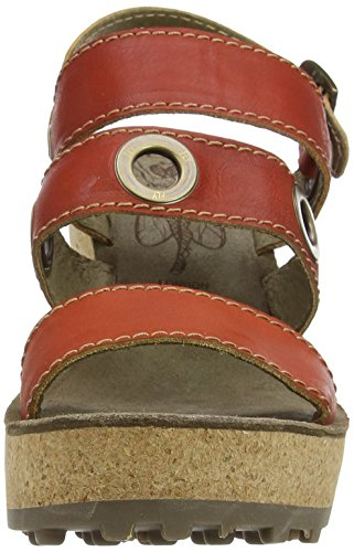 Fly London Womens Guse644fly Wedge Sandal Devil Red