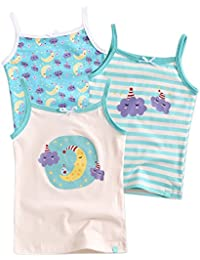 55629707fe44 2T-7T Kids Girls 100% Cotton Undershirts Tank Tops Cami & Assorted Panties  Underwear