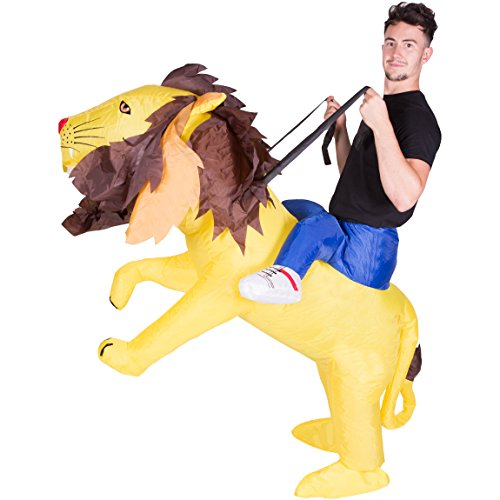 Bodysocks Adult Inflatable Lion Fancy Dress Costume -