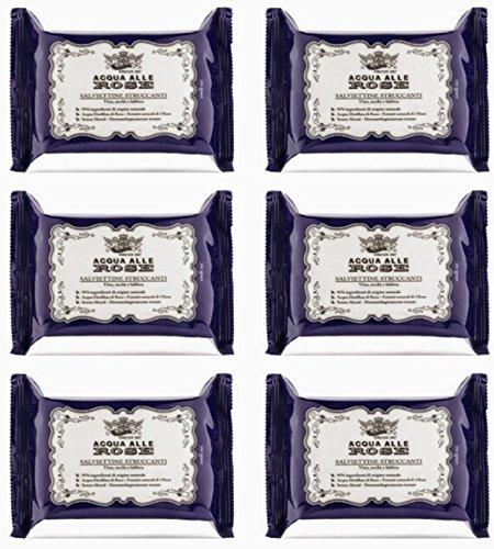 6 X Salviette detergenti Struccanti Acqua alle Rose Roberts offerta in stock