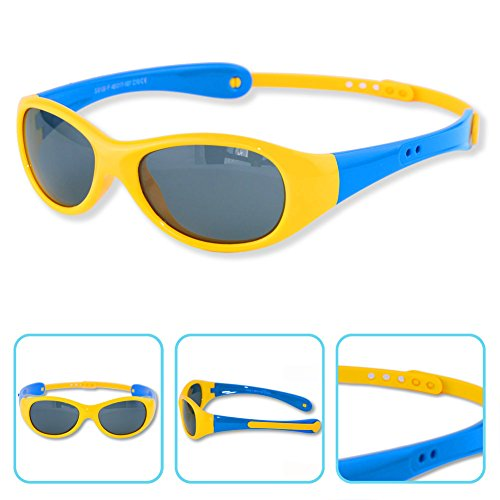 Boys Girls Kids 0-3 Years Old Toddler Polarized UV Protection Sunglasses NSS0701 - Sunglasses Old Year 2