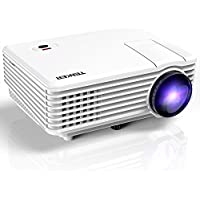 Mini Projector, TENKER Upgrade Projector +30% Brightness with 170 Display, Home Cinema HD LED Video Projector Support 1080P USB VGA HDMI, Compatible with Amazon Fire Stick TV Smartphones iPhone iPad
